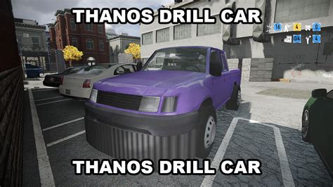 Thanos Car Replaces Pickup Truck Mods