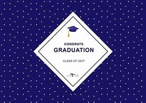 Blue Graduation Background - Download Free Vector Art ...
