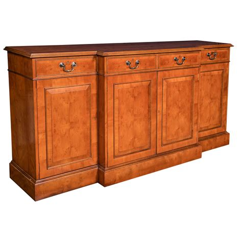 credenza for sale custom made yew wood breakfront server credenza