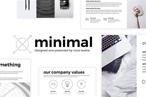 minimalist powerpoint template free free minimal powerpoint template create your ppt easy