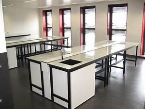 Mobilier De Laboratoire : paillasse de laboratoire en emalit ~ Teatrodelosmanantiales.com Idées de Décoration