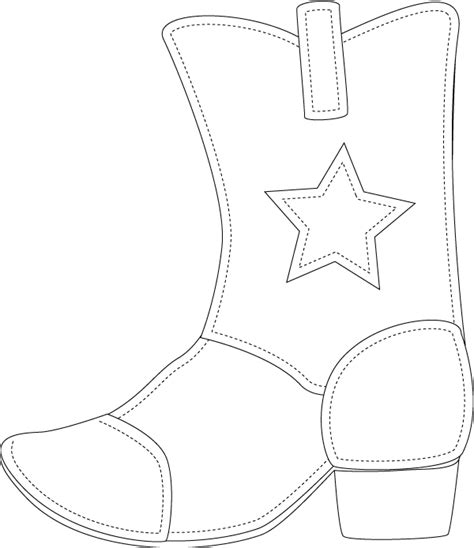 cowboy boot template sue s rubber sting adventures bss monday idea a bit country