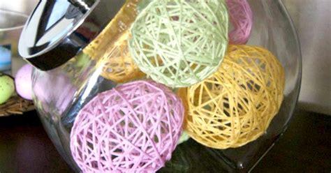 Home Decor Yarn :  Yarn-wrapped Eggs