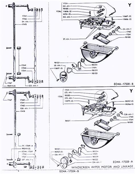 Ford Wiper Linkage Diagram by 83 Wiper Assy Small Ford Spares