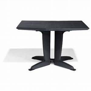 Table De Jardin 4 Personnes : table de jardin pliante 4 personnes gris anthracite table chaise salon de jardin ~ Teatrodelosmanantiales.com Idées de Décoration