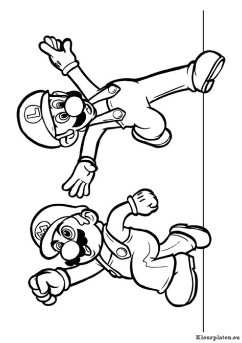 Kleurplaten Mario Bros by Mario Bros Kleurplaten Kleurplaten Eu