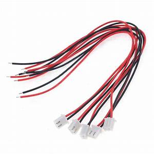 Free Shipping Hot 10pcs  Lot 24awg Jst Xh2 54 2 Pin