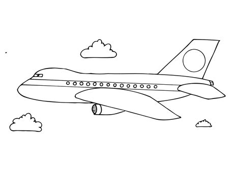 Aeroplane Drawing For Kids Drawing Sketch Picture