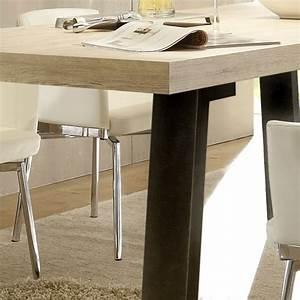 Table à Manger Bois Et Métal : d tail table manger bois et m tal ~ Teatrodelosmanantiales.com Idées de Décoration