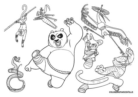 Kung Fu Coloring Pages - Costumepartyrun