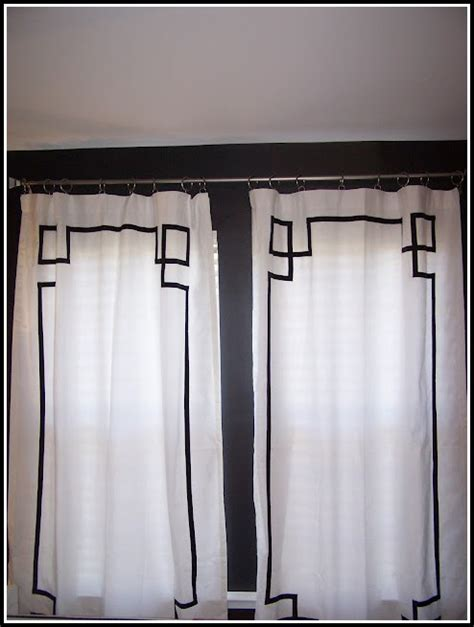 white curtains with black trim curtains home