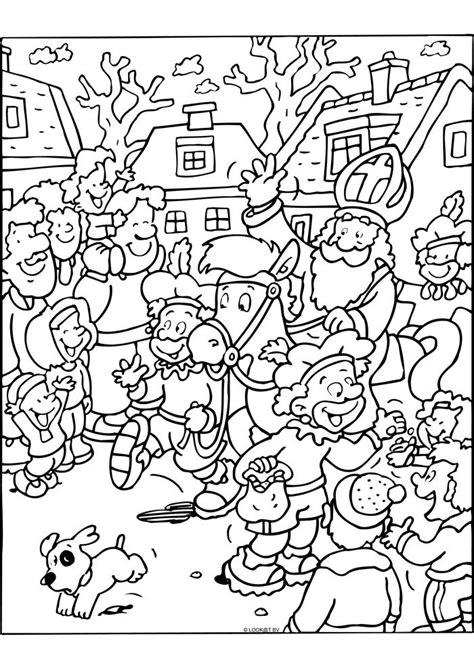 Kleurplaat Sinterklaas Pietje Puk by Aankomst Sinterklaas Sinterklaas Kleurplaten