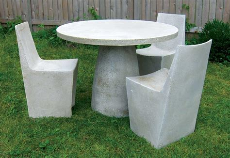 concrete patio furniture concrete table and benches outdoor outdoor decorations