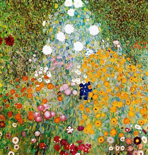 gustav klimt flower garden painting anysize 50