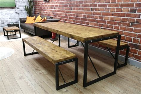 Industrial Dining Table with Steel Frames and Reclaimed Wood