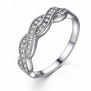 women39s solid sterling silver aaa cz infinity anniversary With silver wedding anniversary rings