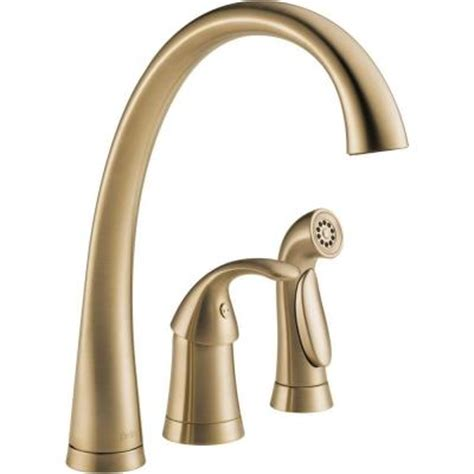 discontinued kitchen faucets delta pilar waterfall single handle side sprayer kitchen