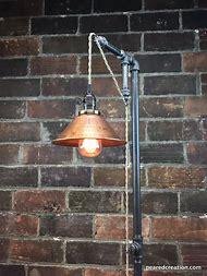Industrial Floor Lamp - Copper Shade - Edison …