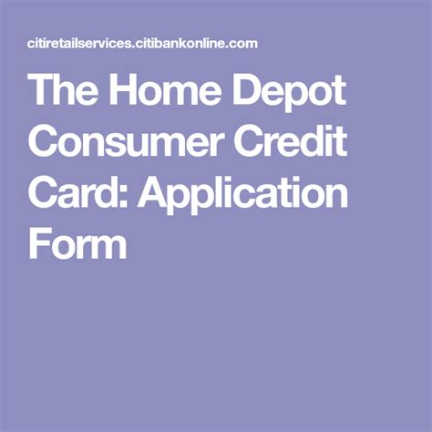 Card mate can store your credit cards, debeit cards, id cards, and any other type of cards. The Home Depot Consumer Credit Card: Application Form | Credit card application, Application ...