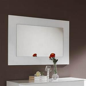 Miroir Mural Blanc Simili Cuir Strass Miroir Mural Simili Cuir Blanc ...