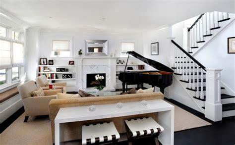 canap e 50 table console adossée au canapé de salon plus de 50 idées