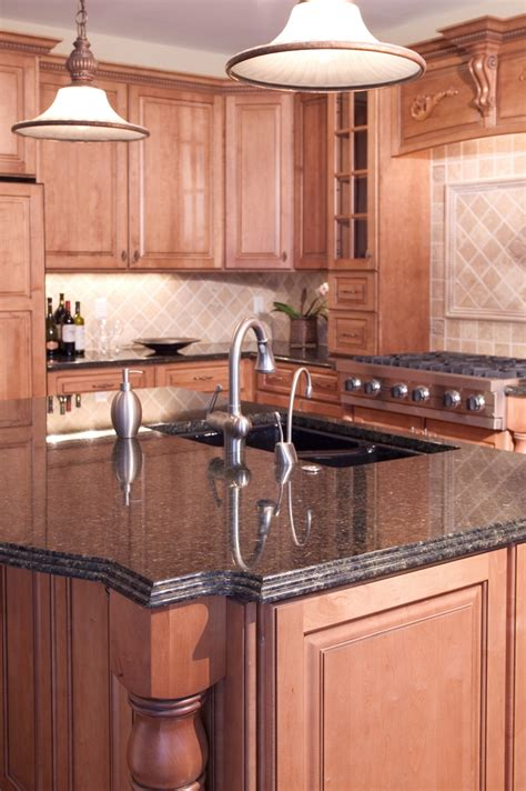 countertops for kitchen islands coffee brown granite installed design photos and reviews