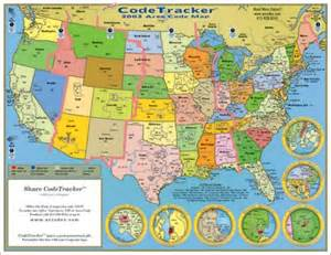 Us Time Zones and Area Codes Map