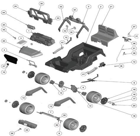 Power Wheels Hot Jeep Wrangler Parts