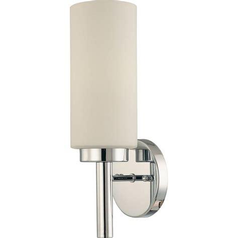 volume lighting 1 light chrome interior wall sconce v2121