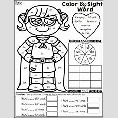 """The Best Of Teacher Entrepreneurs Language Arts  """"color By Sight Word""""  Education! Sight"""