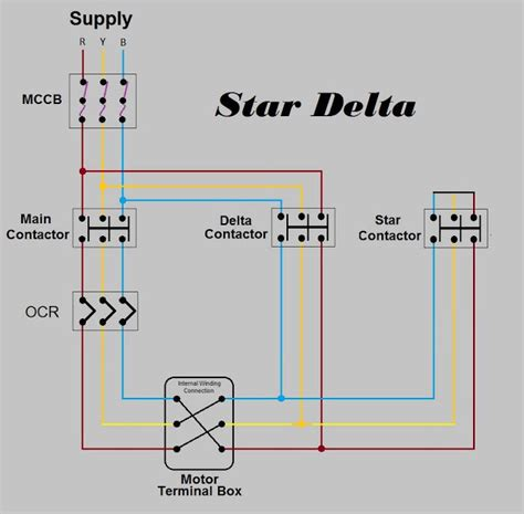 Star Delta Power Schematic Diagram Electrical