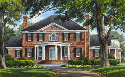 Grand Colonial House Plan