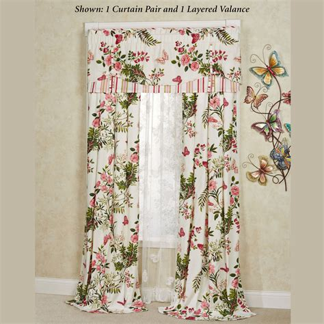 window curtains garden butterfly garden floral window treatment