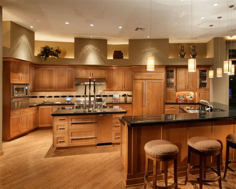 fancy  natural cherry kitchen cabinets decohoms