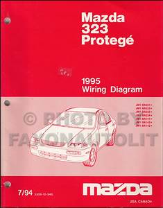 1991 Mazda 323 Wiring Diagram Manual Original