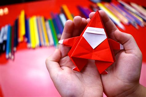 fold  origami santa claus
