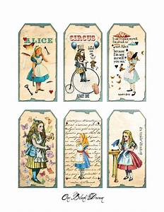 free alice in wonderland cutouts free alice in With alice in wonderland tags template