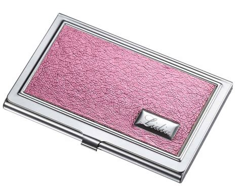 Visol Lorena Hot Pink Leatherette Business Card Case For Women Business Card Creation Free Cutter Slitter Case Vistaprint With Logo Visiting Design Coreldraw Silver Tiffany's Printing Europe Square