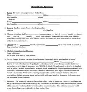 Free Blank Rental Lease Agreement