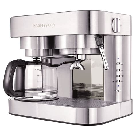 There are many types of combos like manual or automatic and there are many forms of these combos. Espressione Stainless Steel Combination Espresso Machine & 10 Cup Drip Coffee Maker - Walmart.com