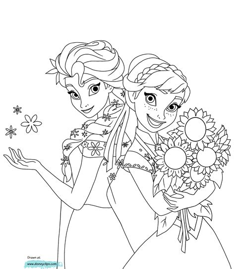 Coloring Elsa by Frozen Elsa Coloring Pages Printable Coloring