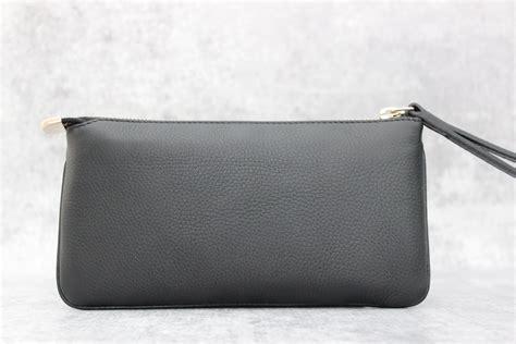 gucci black leather soho wristlet  jills consignment