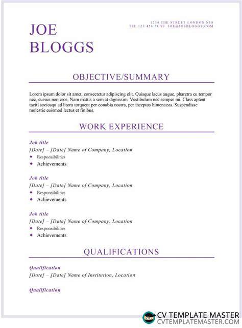 Alternative Resume Templates by Purple Flair Cv R 233 Sum 233 Template Alternative Cv