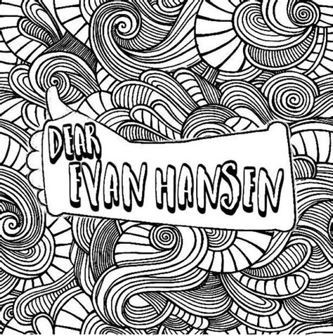 Sit in movie theater clipart. Dear Evan Hansen Digital Download Coloring Page - Musical Theatre - New York clip art, download ...