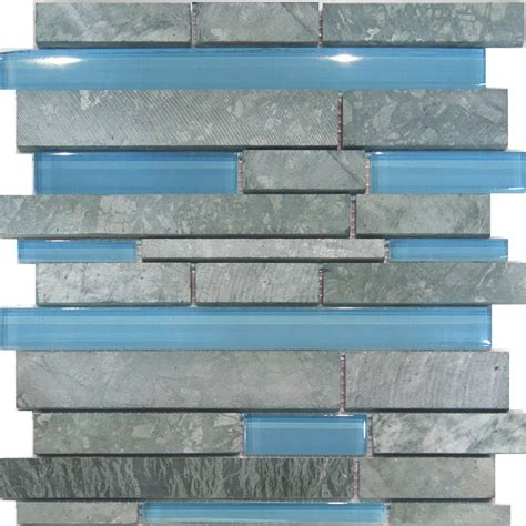 blue tile backsplash kitchen sle marble blue glass random linear mosaic tile
