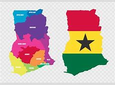 Ghana Map And Flag Download Free Vector Art, Stock