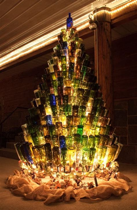 christmas tree made from wine bottles 5 ways to a boozier festive season unsobered