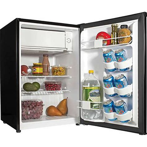Mini Fridge Freezer Black Compact Refrigerator Dorm