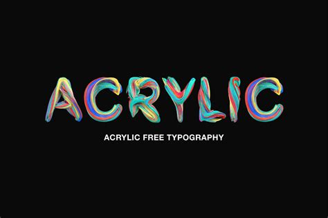acrylic free colorful typography free design resources