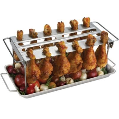 chicken leg rack broil king premium chicken wing rack 64152